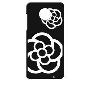 Moto Z2 Play モトローラ ブラック ハードケース カメリア 花柄|ss-link
