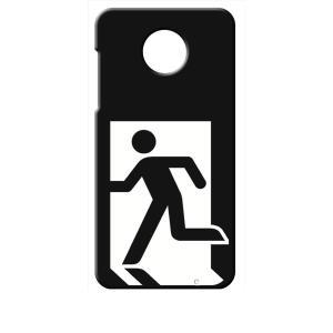 Moto Z2 Play モトローラ ブラック ハードケース 非常口|ss-link