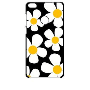 nova lite 608HW HUAWEI 楽天モバイル Y!mobile ブラック ハードケース デイジー 花柄 レトロ フラワー|ss-link