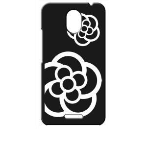 Priori5 FTJ17C00 FREETEL ブラック ハードケース カメリア 花柄|ss-link