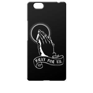FREETEL REI 麗 FTJ161B-REI レイ サムライ SIMフリー シムフリー ブラック ハードケース プレイングハンド 合掌|ss-link