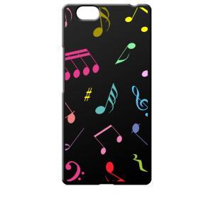 FREETEL REI 麗 FTJ161B-REI レイ サムライ SIMフリー シムフリー ブラック ハードケース 音符 ト音記号 カラフル|ss-link