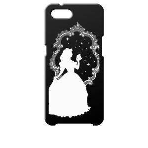 Reno A OPPO ブラック ハードケース 白雪姫 リンゴ キラキラ プリンセス|ss-link