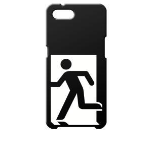 Reno A OPPO ブラック ハードケース 非常口|ss-link