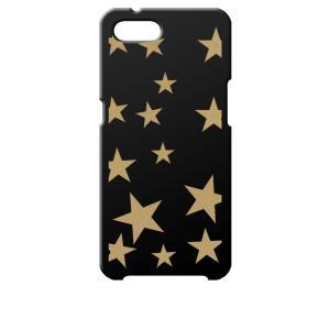Reno A OPPO ブラック ハードケース 星 スター ベージュ|ss-link