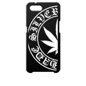 Reno A OPPO ブラック ハードケース マリファナ ロゴ|ss-link