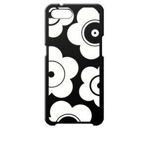 Reno A OPPO ブラック ハードケース t026 花柄 マリメッコ風 レトロ フラワー ss-link