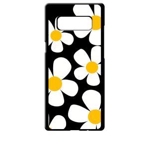 SC-01K/SCV37 Galaxy Note8 ギャラクシー ブラック ハードケース デイジー 花柄 レトロ フラワー|ss-link