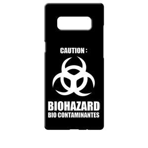 SC-01K/SCV37 Galaxy Note8 ギャラクシー ブラック ハードケース バイオハザード BIOHAZARD ロゴ|ss-link