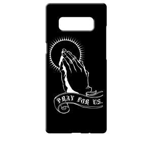 SC-01K/SCV37 Galaxy Note8 ギャラクシー ブラック ハードケース プレイングハンド 合掌|ss-link