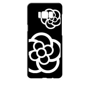 SC-03J/SCV35 Galaxy S8+ ギャラクシー ブラック ハードケース カメリア 花柄 ss-link