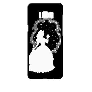 SC-03J/SCV35 Galaxy S8+ ギャラクシー ブラック ハードケース 白雪姫 リンゴ キラキラ プリンセス ss-link