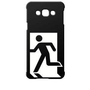 SCV32 Galaxy A8 ギャラクシー エーエイト au ブラック ハードケース 非常口|ss-link