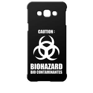 SCV32 Galaxy A8 ギャラクシー エーエイト au ブラック ハードケース バイオハザード BIOHAZARD ロゴ|ss-link