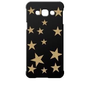 SCV32 Galaxy A8 ギャラクシー エーエイト au ブラック ハードケース 星 スター ベージュ|ss-link