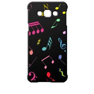 SCV32 Galaxy A8 ギャラクシー エーエイト au ブラック ハードケース 音符 ト音記号 カラフル|ss-link