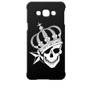 SCV32 Galaxy A8 ギャラクシー エーエイト au ブラック ハードケース スカル クラウン 王冠 ドクロ 骸骨 星 スター|ss-link
