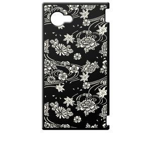 SH-02H AQUOS Compact アクオス コンパクト ブラック ハードケース ip1034 和風 和柄 花柄 もみじ 菊 牡丹 花柄|ss-link