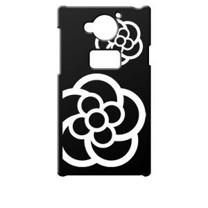 SH-03G AQUOS ZETA docomo ブラック ハードケース カメリア 花柄 カバー ジャケット スマートフォン スマホケース au|ss-link