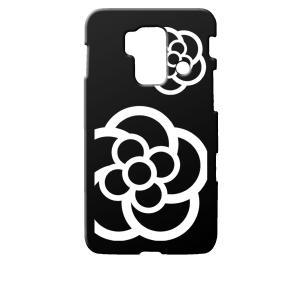 SH-05E スマートフォン for ジュニア/SH-03F スマートフォン for ジュニア2 docomo ブラック ハードケース カメリア 花柄|ss-link