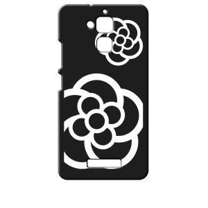 ZenFone3 Max 5.2インチ ZC520TL ASUS エイスース ブラック ハードケース カメリア 花柄 ss-link
