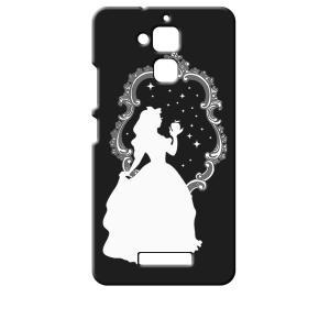 ZenFone3 Max 5.2インチ ZC520TL ASUS エイスース ブラック ハードケース 白雪姫 リンゴ キラキラ プリンセス ss-link