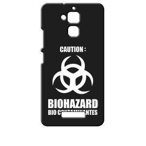 ZenFone3 Max 5.2インチ ZC520TL ASUS エイスース ブラック ハードケース バイオハザード BIOHAZARD ロゴ ss-link