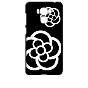 ZenFone3 Max 5.5インチ ZC553KL ブラック ハードケース カメリア 花柄|ss-link