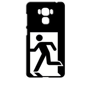 ZenFone3 Max 5.5インチ ZC553KL ブラック ハードケース 非常口|ss-link