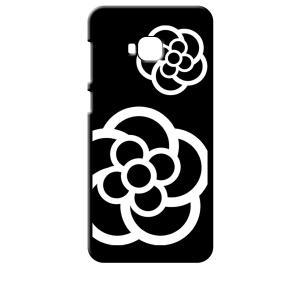 ZenFone4 Selfie Pro ZD552KL ASUS ブラック ハードケース カメリア 花柄|ss-link