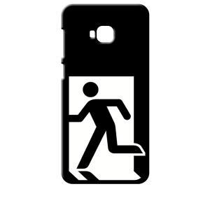 ZenFone4 Selfie Pro ZD552KL ASUS ブラック ハードケース 非常口|ss-link
