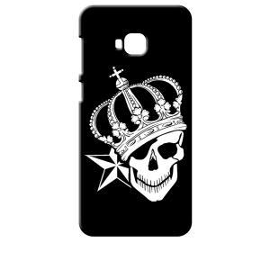 ZenFone4 Selfie Pro ZD552KL ASUS ブラック ハードケース スカル クラウン 王冠 ドクロ 骸骨 星 スター|ss-link