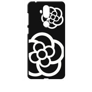 ZenFone5Q ZC600KL ASUS ブラック ハードケース カメリア 花柄|ss-link
