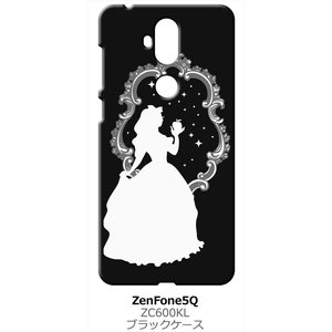 ZenFone5Q ZC600KL ASUS ブラック ハードケース 白雪姫 リンゴ キラキラ プリンセス|ss-link