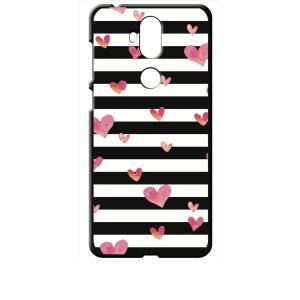 ZenFone5Q ZC600KL ASUS ブラック ハードケース ハート&ボーダー|ss-link
