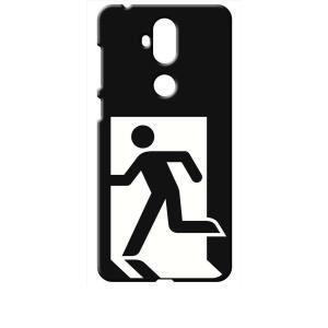 ZenFone5Q ZC600KL ASUS ブラック ハードケース 非常口|ss-link