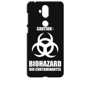 ZenFone5Q ZC600KL ASUS ブラック ハードケース バイオハザード BIOHAZARD ロゴ|ss-link