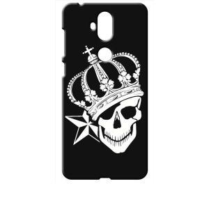 ZenFone5Q ZC600KL ASUS ブラック ハードケース スカル クラウン 王冠 ドクロ 骸骨 星 スター|ss-link