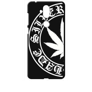 ZenFone5Q ZC600KL ASUS ブラック ハードケース マリファナ ロゴ|ss-link