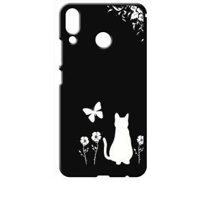 ZenFone5 ZE620KL/ZenFone5Z ZS620KL ブラック ハードケース 猫 ネコ 花柄 a026|ss-link