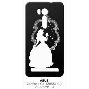 ZenFone Go (ZB551KL) ブラック ハードケース 白雪姫 リンゴ キラキラ プリンセス|ss-link