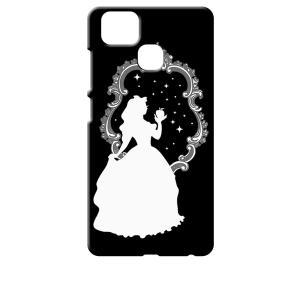 ZenFone Zoom S ZE553KL (ZenFone 3 Zoom) ブラック ハードケース 白雪姫 リンゴ キラキラ プリンセス|ss-link