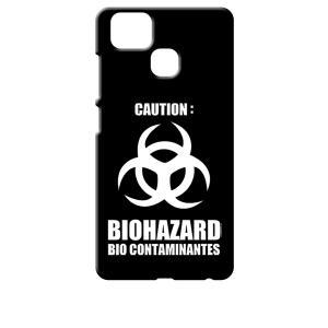 ZenFone Zoom S ZE553KL (ZenFone 3 Zoom) ブラック ハードケース バイオハザード BIOHAZARD ロゴ|ss-link