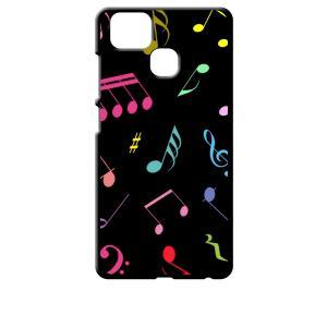 ZenFone Zoom S ZE553KL (ZenFone 3 Zoom) ブラック ハードケース 音符 ト音記号 カラフル|ss-link