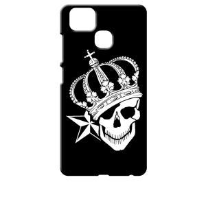 ZenFone Zoom S ZE553KL (ZenFone 3 Zoom) ブラック ハードケース スカル クラウン 王冠 ドクロ 骸骨 星 スター|ss-link