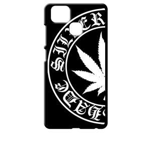 ZenFone Zoom S ZE553KL (ZenFone 3 Zoom) ブラック ハードケース マリファナ ロゴ|ss-link