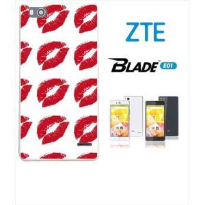 Blade E01 ホワイトハードケース カバー ジャケット キスマーク 唇 a028-sslink|ss-link