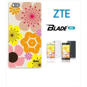 Blade E01 ホワイトハードケース カバー ジャケット 花柄 キャロライン風 マリメッコ風 b003-sslink |ss-link