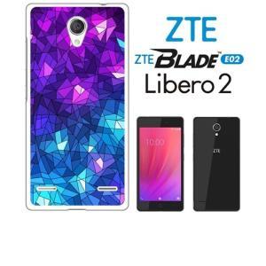 BLADE E02/Libero 2 ZTE ホワイトハードケース ジャケット ステンドモザイク-A モザイク ステンドグラス エクスペリア|ss-link