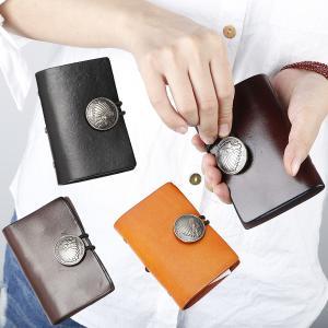 ネコポス送料無料 コンチョ付きカードケース 大容量 本革 カード入れ レザー メンズ レディース カラフル 本革 カード収納 名刺入れ 財布 じゃばら ビンテージ|ss-link